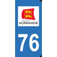 Sticker Immatriculation 76 - Seine-maritime - 2