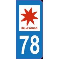 Sticker immatriculation 78 - Yvelines