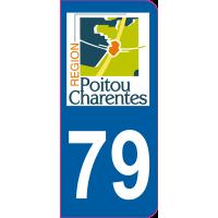 Sticker immatriculation 79 - Deux-Sèvres