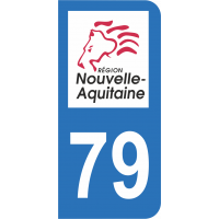 Sticker Immatriculation 79 - Deux-sèvres - 2