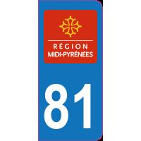 Sticker immatriculation 81 - Tarn