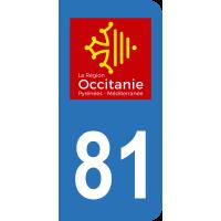 Sticker Immatriculation 81 - Tarn - 2