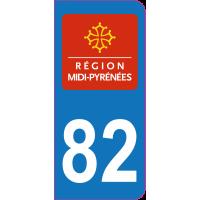 Sticker immatriculation 82 - Tarn-et-Garonne