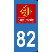 Sticker Immatriculation 82 - Tarn-et-garonne - 2