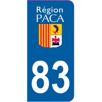 Sticker immatriculation 83 - Var