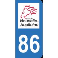 Sticker Immatriculation 86 - Vienne - 2