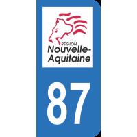 Sticker Immatriculation 87 - Haute-vienne - 2