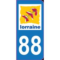 Sticker immatriculation 88 - Vosges