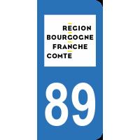 Sticker Immatriculation 89 - Yonne - 2