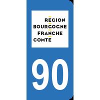 Sticker Immatriculation 90 - Territoire De Belfort - 2