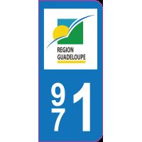 Sticker immatriculation 971 - Guadeloupe