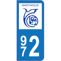 Sticker immatriculation 972 - Martinique