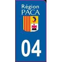 Sticker immatriculation moto 04 - Alpes-de-Haute-Provence