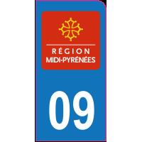 Sticker immatriculation moto 09 - Ariège