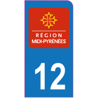Sticker immatriculation moto 12 - Aveyron