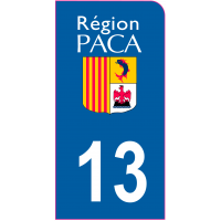 Sticker immatriculation moto 13 - Bouches-du-Rhône