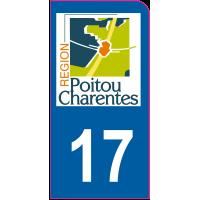 Sticker immatriculation moto 17 - Charente-Maritime