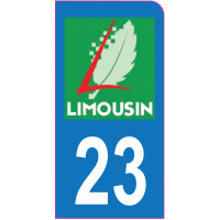 Sticker immatriculation moto 23 - Creuse