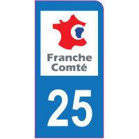 Sticker immatriculation moto 25 - Doubs