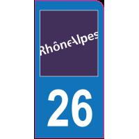 Sticker immatriculation moto 26 - Drôme