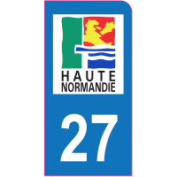 Sticker immatriculation moto 27 - Eure