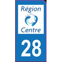 Sticker immatriculation moto 28 - Eure-et-Loir