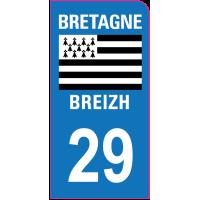 Sticker immatriculation moto 29 - Finistère