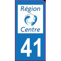 Sticker immatriculation moto 41 - Loir-et-Cher