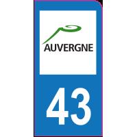 Sticker immatriculation moto 43 - Haute-Loire