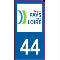 Sticker immatriculation moto 44 - Loire-Atlantique