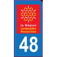 Sticker immatriculation moto 48 - Lozère