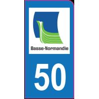 Sticker immatriculation moto 50 - Manche