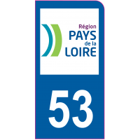 Sticker immatriculation moto 53 - Mayenne