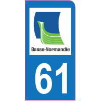 Sticker immatriculation moto 61 - Orne