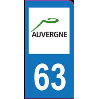 Sticker immatriculation moto 63 - Puy-de-Dôme