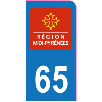 Sticker immatriculation moto 65 - Hautes-Pyrénées