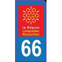 Sticker immatriculation moto 66 - Pyrénées-Orientales