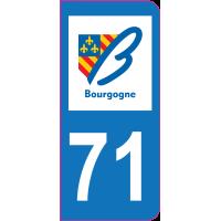Sticker immatriculation moto 71 - Saône-et-Loire