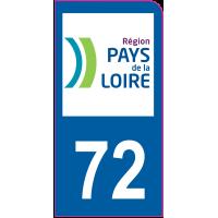 Sticker immatriculation moto 72 - Sarthe