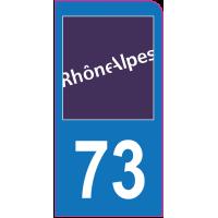 Sticker immatriculation moto 73 - Savoie