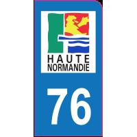 Sticker immatriculation moto 76 - Seine-Maritime