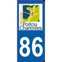 Sticker immatriculation moto 86 - Vienne