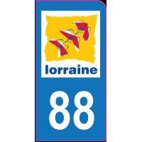 Sticker immatriculation moto 88 - Vosges