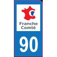 Sticker immatriculation moto 90 - Territoire de Belfort