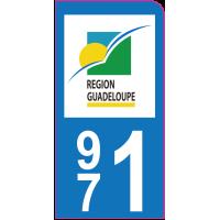 Sticker immatriculation moto 971 - Guadeloupe