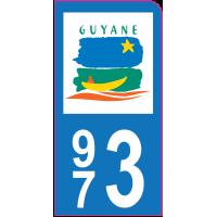 Sticker immatriculation moto 973 - Guyane