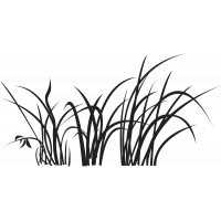 Sticker mural herbe