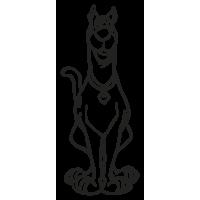 Sticker mural geant Scooby doo