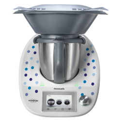 Stickers Thermomix TM5 Points bleus