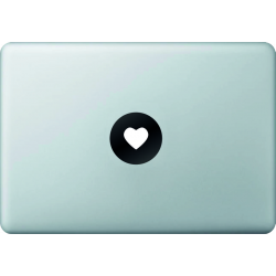 Coeur - Sticker Macbook